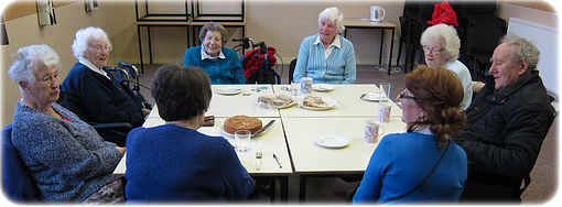 Open Door shared meal in the Village Hall